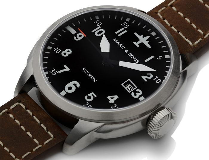 MARC & SONS Pilot Watch series ELEGANCE MSF-005L1
