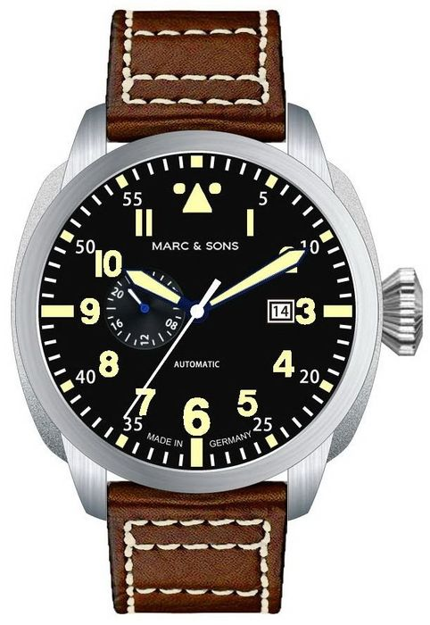 MARC & SONS Pilot Watch series CLASSIC MOD VINTAGE MSF-006-5L1