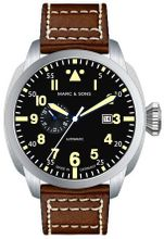 MARC & SONS Fliegeruhr KLASSIK MOD OLD RADIUM MSF-006-5L1