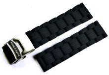 MARC & SONS Kautschukband Farbe schwarz 22 mm Referenz K1
