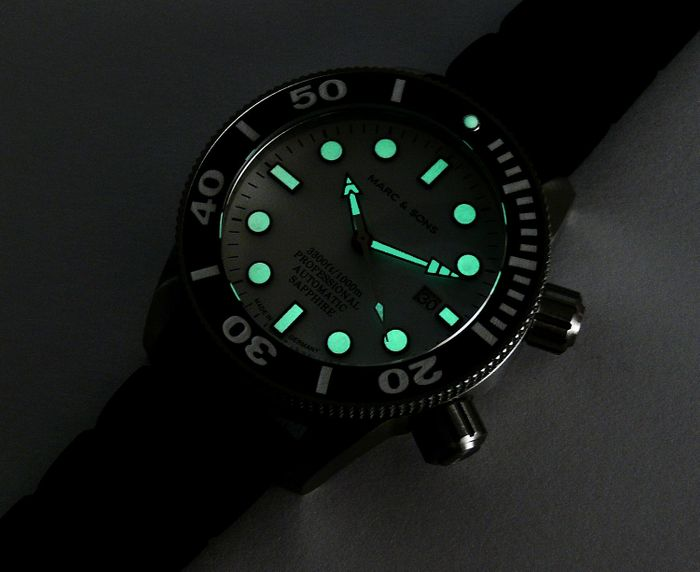 MARC & SONS diver watch series PROFESSIONAL MSD-028-1K1