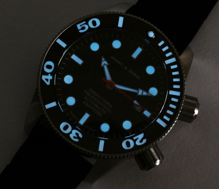 MARC & SONS diver watch PROFESSIONAL MOD BGW9 MSD-028-10K1