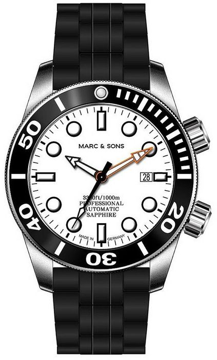 MARC & SONS diver watch PROFESSIONAL MOD BGW9 MSD-028-14K1