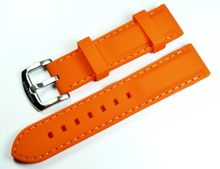 MARC & SONS Kautschukband Farbe orange 22mm Referenz K2