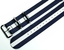 MARC & SONS Nato strap color blue white, 22 mm, Reference T13