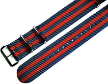 MARC & SONS Nato strap color blue red, 22 mm, Reference T15