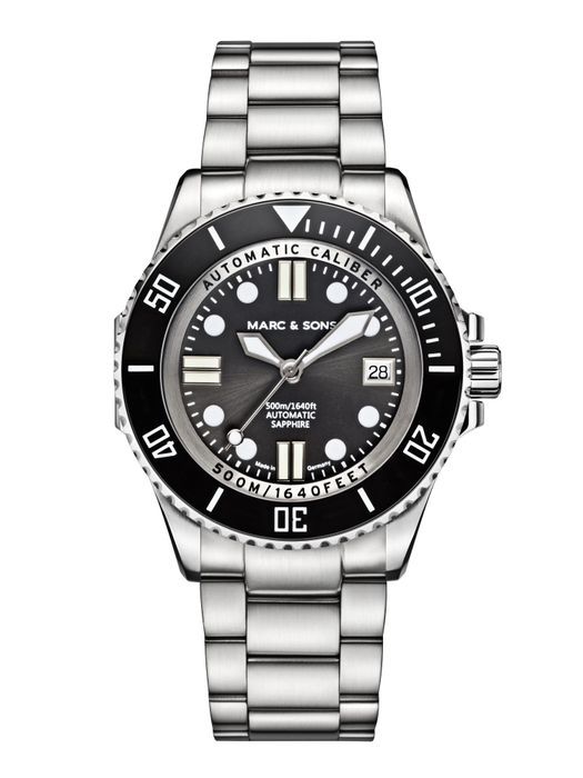 MARC & SONS 500M Diver watch with Swiss ETA 2824-2, MSD-029-1S