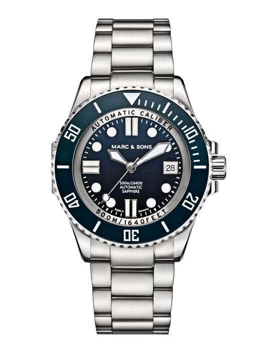 MARC & SONS 500M Diver watch with Swiss ETA 2824-2, MSD-029-2S