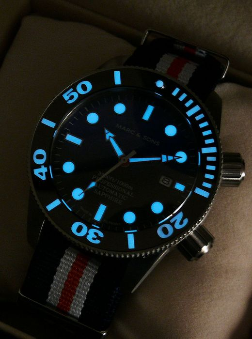 MARC & SONS Taucheruhr Automatik, Diver watch, Made in Germany,