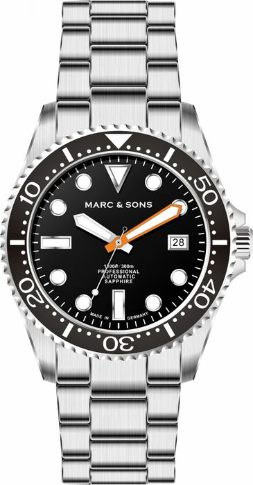 MARC & SONS Diver Watch Series SPORT Countdown bezel MSD-045-1C-S