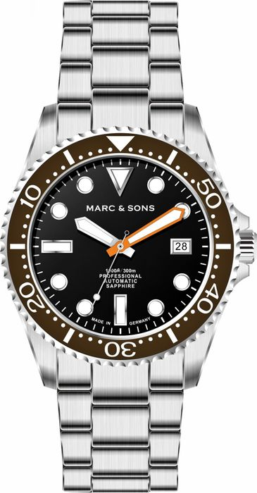 MARC & SONS Diver Watch Series SPORT Countdown bezel MSD-045-17C-S