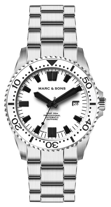 MARC & SONS Diver Watch Series SPORT II Countdown bezel MSD-046-3WC-S