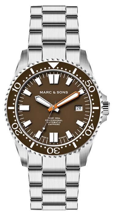 MARC & SONS Diver Watch Series SPORT II Countdown bezel MSD-046-4C-S