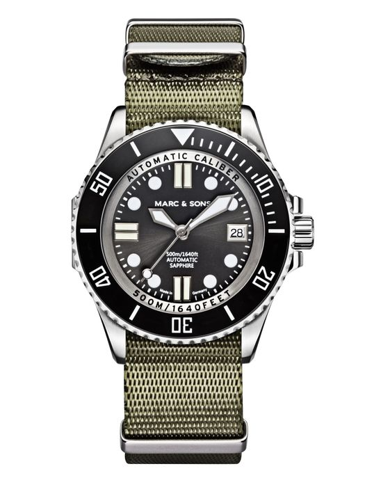 MARC & SONS 500M Diver watch with Swiss ETA 2824-2, MSD-029-1-T1