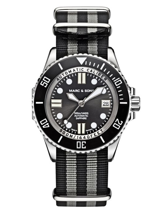 MARC & SONS 500M Diver watch with Swiss ETA 2824-2, MSD-029-1-T3
