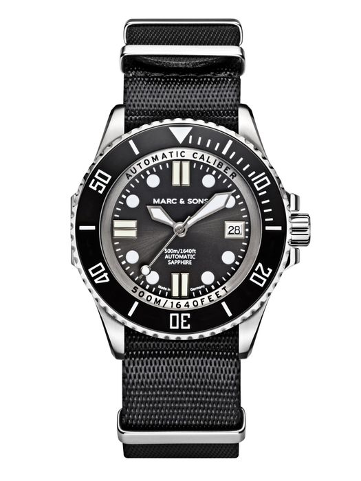 MARC & SONS 500M Diver watch with Swiss ETA 2824-2, MSD-029-1-T5