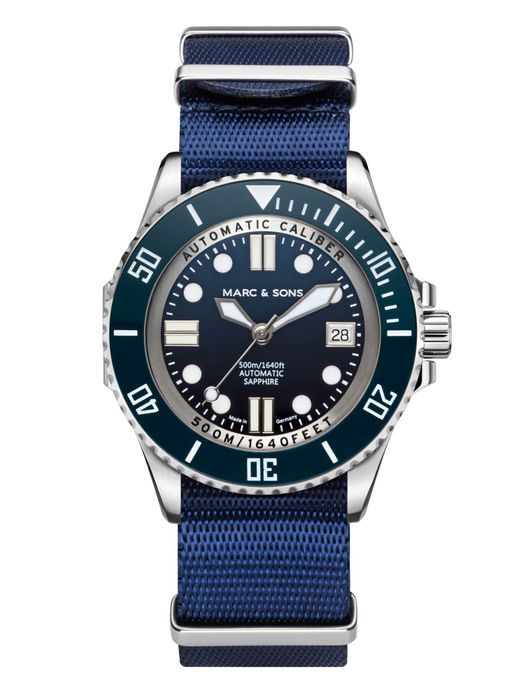 MARC & SONS 500M Diver watch with Swiss ETA 2824-2, MSD-029-2-T4