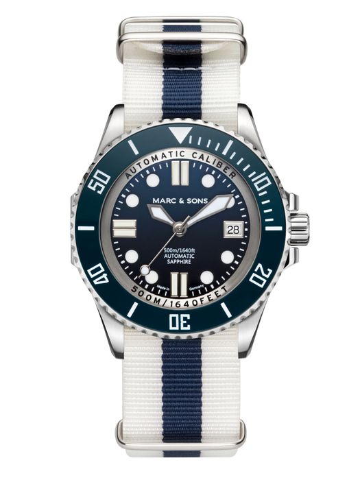 MARC & SONS 500M Diver watch with Swiss ETA 2824-2, MSD-029-2-T18