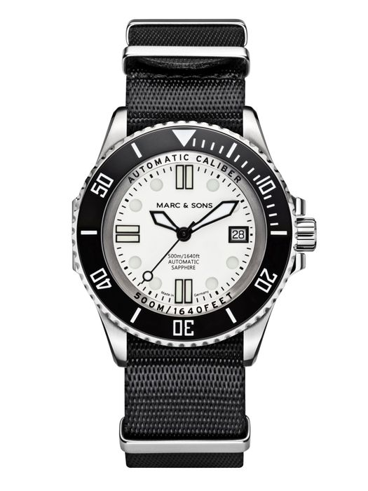 MARC & SONS 500M Diver watch with Swiss ETA 2824-2, MSD-029-3-T5