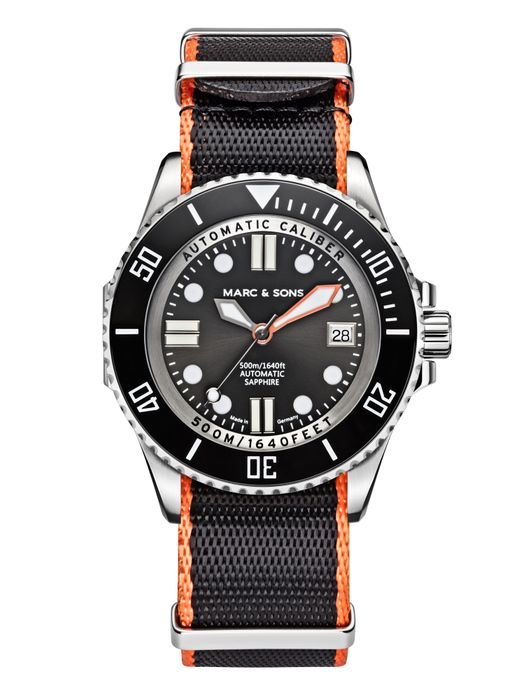 MARC & SONS 500M Diver watch with Swiss ETA 2824-2, MSD-029-5-T2