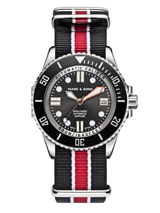 MARC & SONS 500M Diver watch with Swiss ETA 2824-2, MSD-029-5T17