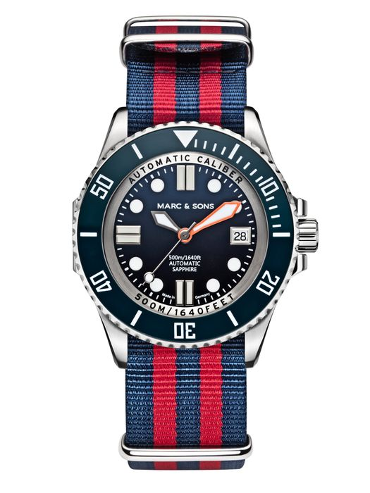 MARC & SONS 500M Diver watch with Swiss ETA 2824-2, MSD-029-6-T15