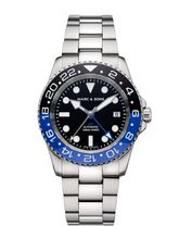 MARC & SONS Diver watch Automatic GMT ETA 2893-2 Ref.: MSG-007-1S