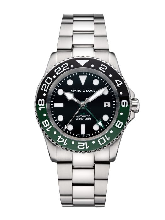 MARC & SONS Diver watch Automatic GMT ETA 2893-2 Ref.: MSG-007-2S