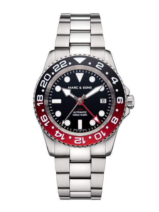 MARC & SONS Diver watch Automatic GMT ETA 2893-2 Ref.: MSG-007-5S