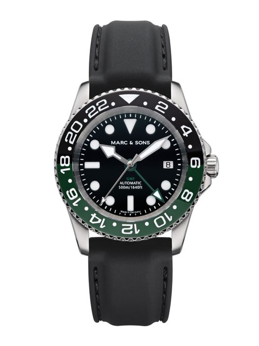 MARC & SONS Diver watch Automatic GMT ETA 2893-2 Ref.: MSG-007-2-K3