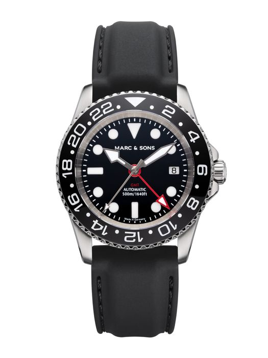 MARC & SONS Diver watch Automatic GMT ETA 2893-2 Ref.: MSG-007-3-K3