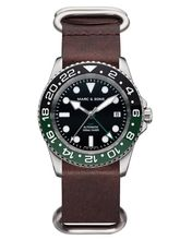 MARC & SONS Diver watch Automatic GMT ETA 2893-2 Ref.: MSG-007-2-L12