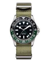 MARC & SONS Diver watch Automatic GMT ETA 2893-2 Ref.: MSG-007-2-T1