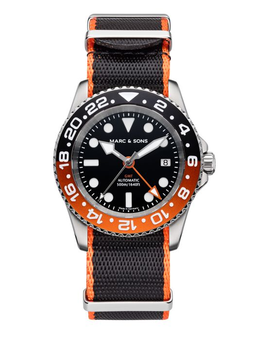 MARC & SONS Diver watch Automatic GMT ETA 2893-2 Ref.: MSG-007-6-T2