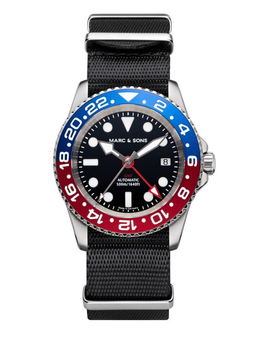 MARC & SONS Diver watch Automatic GMT ETA 2893-2 Ref.: MSG-007-7-T5