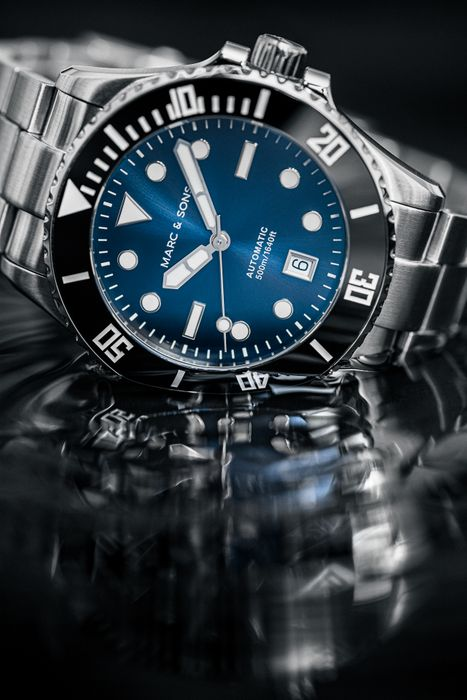 MARC & SONS 500M Diver watch with Swiss ETA 2824-2, MSD-047-2S