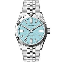 MARC & SONS Herrenuhr Automatik ELEGANCE ICE BLUE