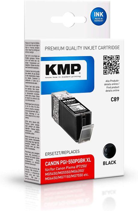 KMP C89 für Canon PGI-550PGBK XL schwarz / black