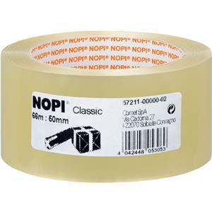 NOPI Verpackungsklebeband 57211 Classic, 50 mm x 66 m, transparent – Bild 1