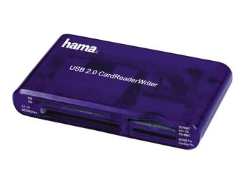 Hama USB 2.0 Multikartenleser 35in1 Card Reader SD/CF/MS/xD/SM blau