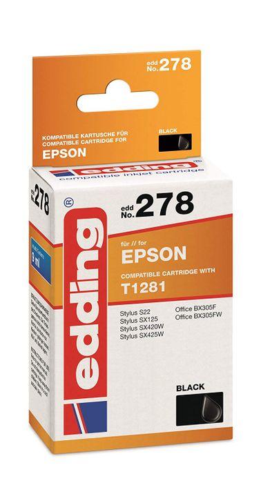 Edding Tintenpatrone EDD No. 351 ( 278 ) kompatibel für Epson T1281