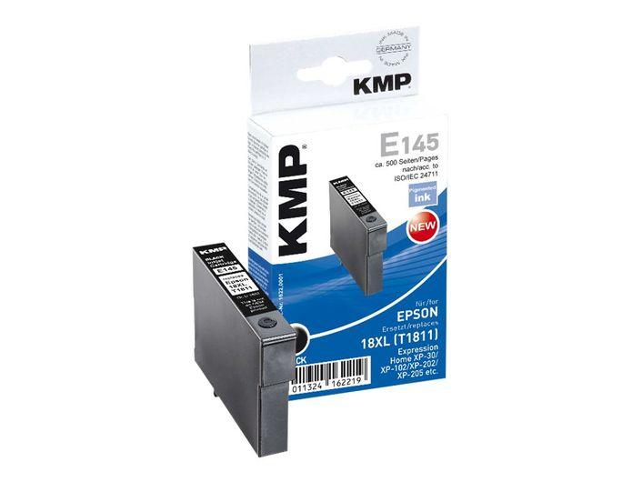KMP E145 Tinte ersetzt Epson T1811 - Nr. 18 Schwarz - kompatibel