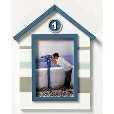 walther Holzrahmen Nautic QN015H - Farbe: blau/weiß/grau für 10x15 cm Bilder