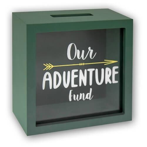 ZEP Spardose Save - Our Adventure Fund - 15x15x6,5cm - SV341 - Geschenkbox