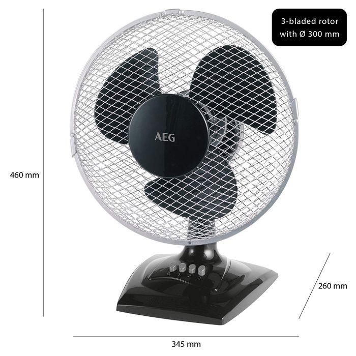 AEG Tisch-Ventilator VL 5529 - schwarz - auch zur Wandmontage geeignet – Bild 5