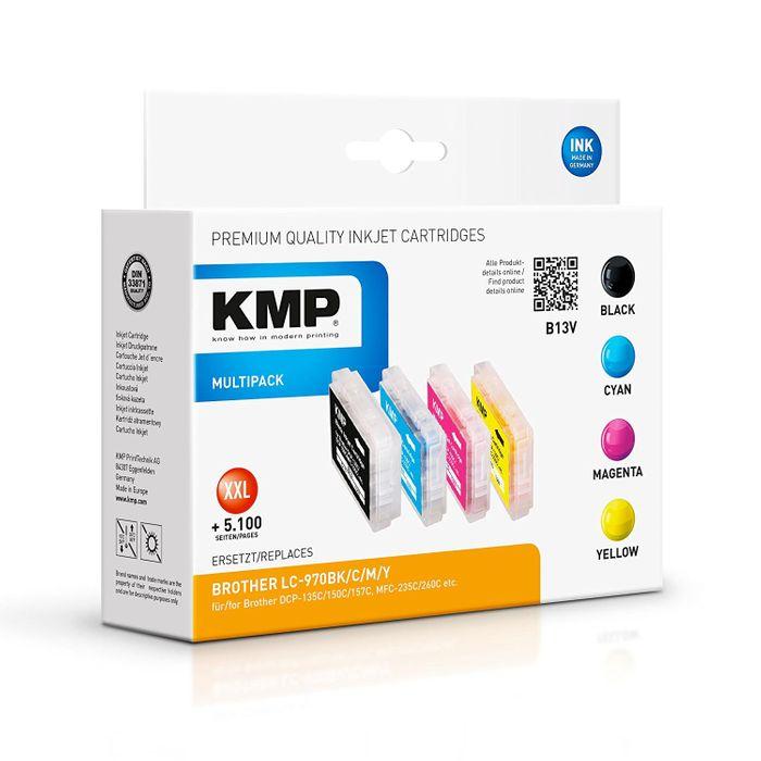 KMP B13V Multipack für Brother LC-970VAL - 4 Tintenpatronen