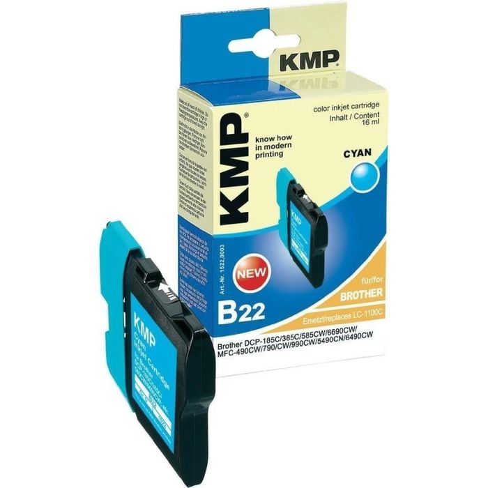 KMP B22 kompatibel Brother LC-1100C Cyan