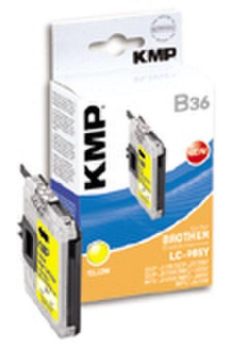 KMP B36 kompatibel Brother LC-985Y Gelb