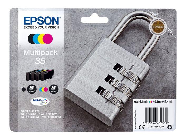 Original Epson Multipack 35 - T3586 / C13T358640 - Bk/C/M/Y