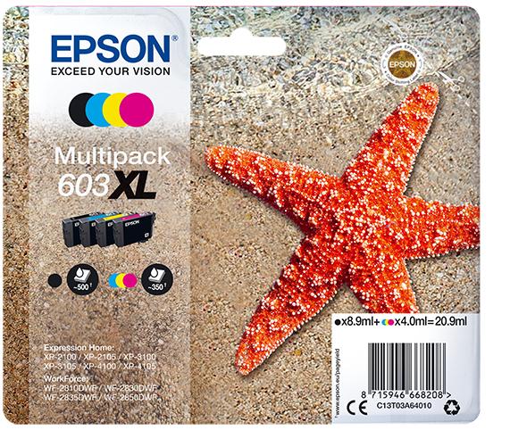 Original Epson T603XL Multipack 603 XL - 4er Pack